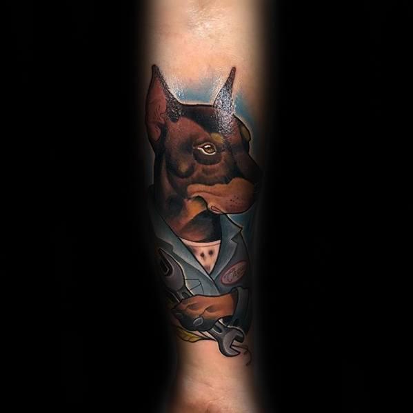 Sharp Wrench Male Tattoo Ideas