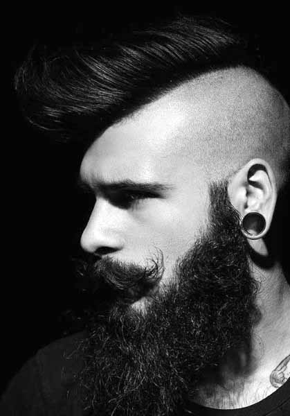 Shaved Hairstyles For Men Mohawk