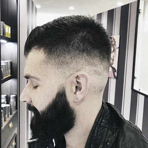 Shaved Sides Fade Mens Short Hair With Beard Styles