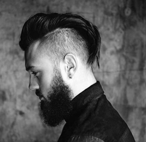 Shaved Sides Haircut Men