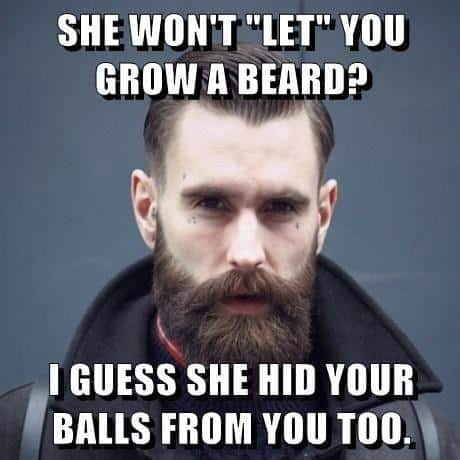 She Will Not Let You Grow A Beard Memes