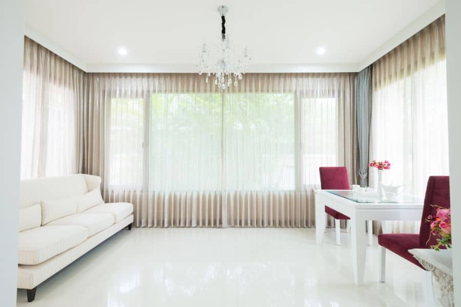 Sheer Living Room Curtain And Drapes Combo