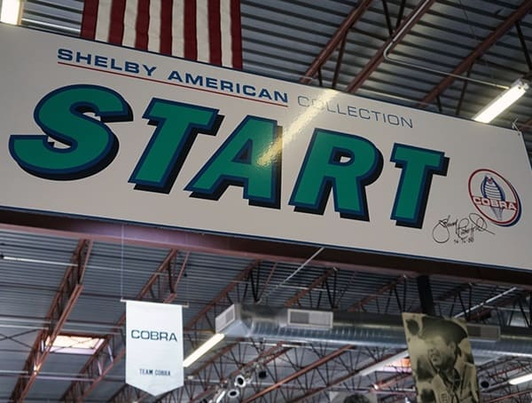 Shelby American Collection Start Sign