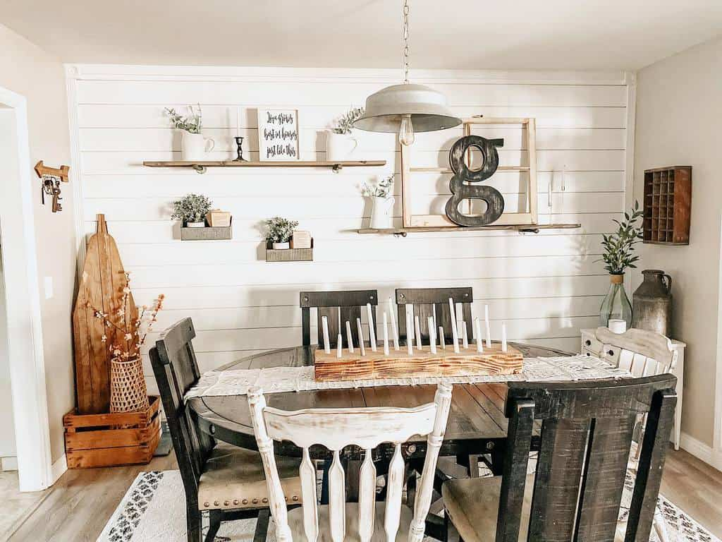 shelf dining room wall decor ideas 2 alittle_bitof_alldecor
