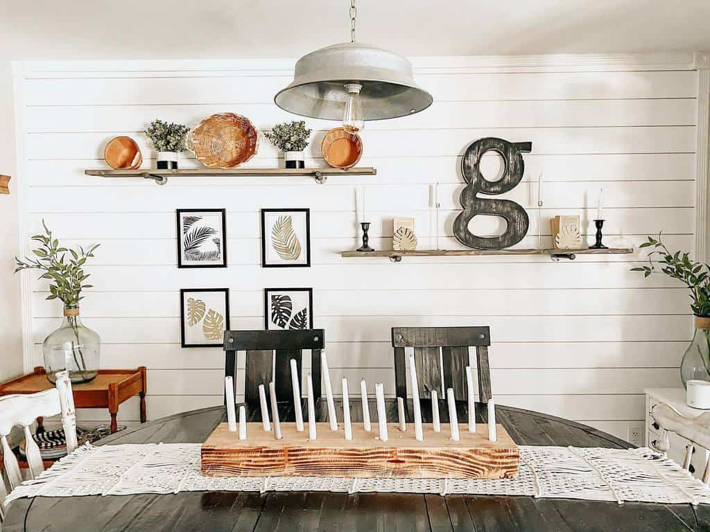 shelf dining room wall decor ideas alittle_bitof_alldecor