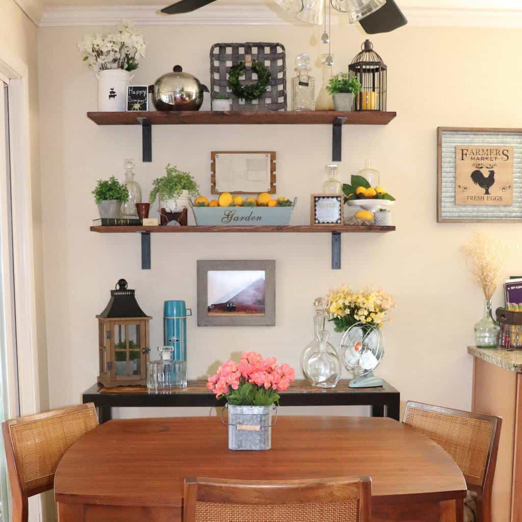 shelf dining room wall decor ideas littlegreenrambler