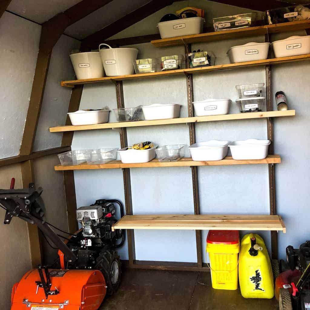 shelves shed storage ideas love_create_thrive