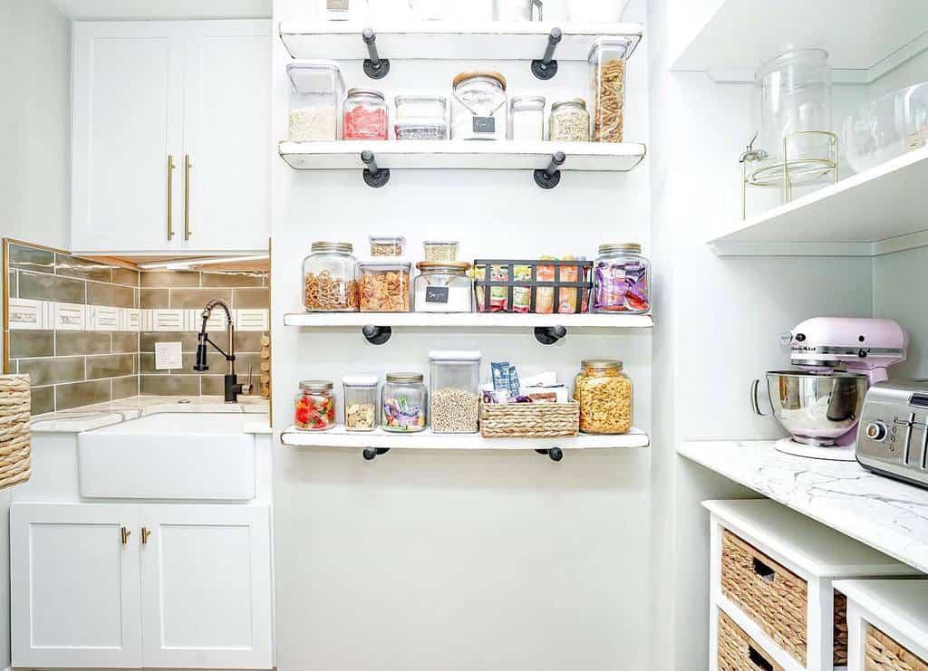 shelves small pantry ideas hillhomeskc