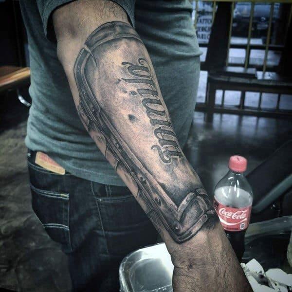 Shield Forearm 3d Tattoos For Men