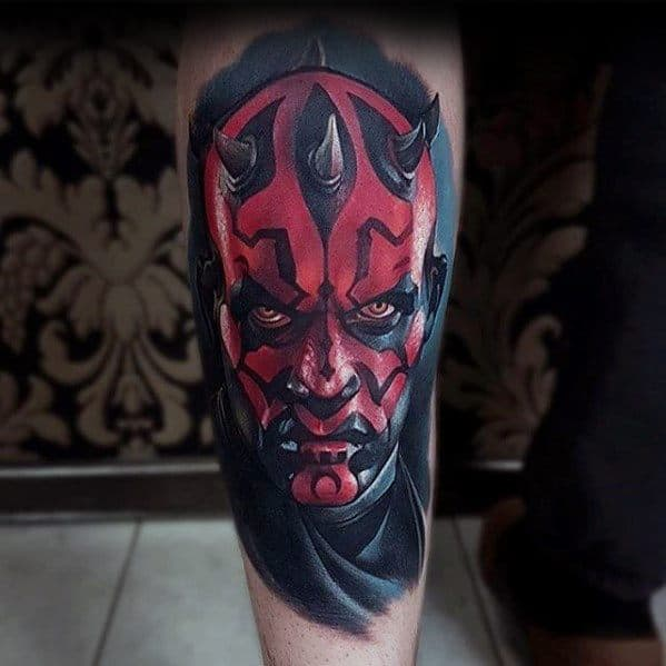 Shin Darth Maul Guys Tattoos
