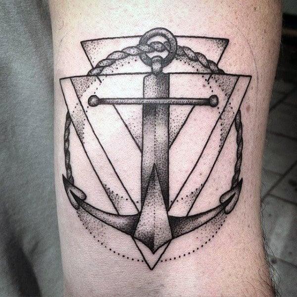 Ship Anchor Tattoos For Men
