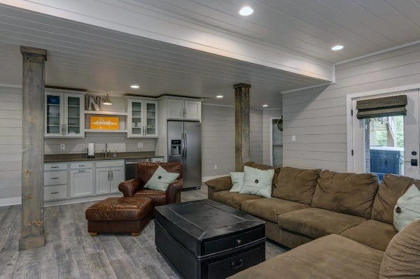Ship Lap Recessed Lighting Basement Ceiling Ideas