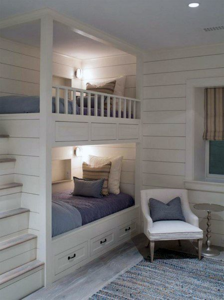 Ship Lap White Bunk Bed Ideas