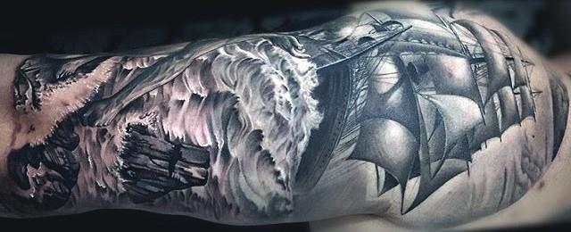 70 Ship Tattoo Ideas For Men – A Sea Of Traditional Sailor Designs