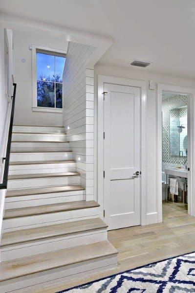 Shiplap Basement Stair Trim Designs