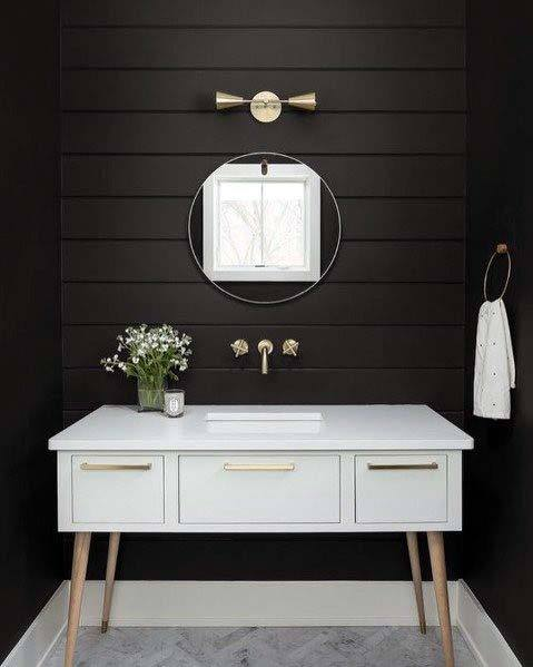 dark guest bathroom ideas