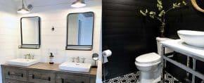 Top 50 Best Shiplap Bathroom Ideas – Nautical Inspired Wall Interiors