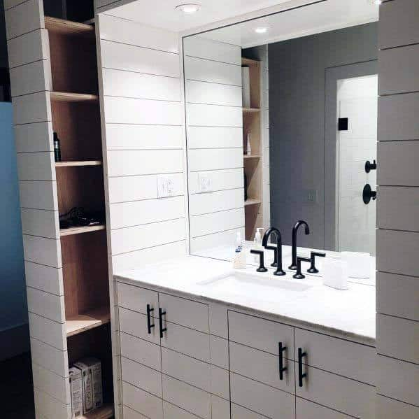 Shiplap Bathroom Ideas Walls And Vanity