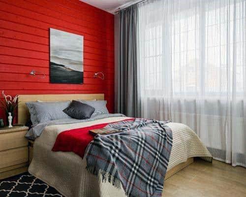 Shiplap Board Walls Bedroom Red Paint Ideas