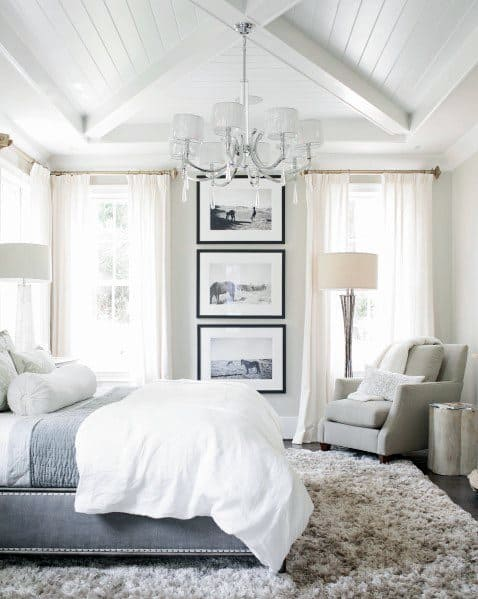Shiplap Ceiling White Master Bedroom Ideas