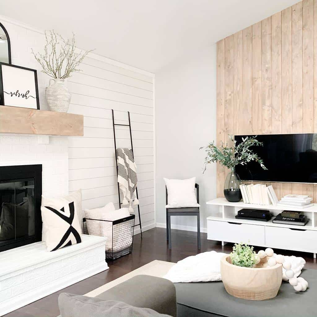 shiplap fireplace wall ideas champagne.chaos