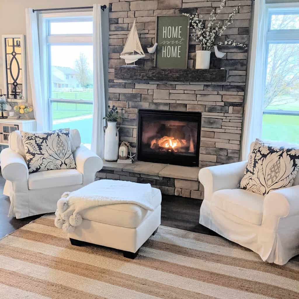 shiplap fireplace wall ideas homestylesllc