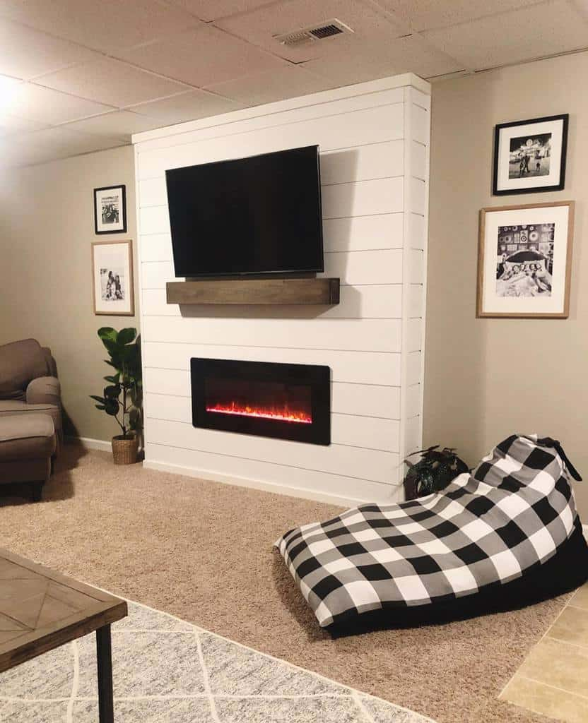shiplap fireplace wall ideas lauren.mersich