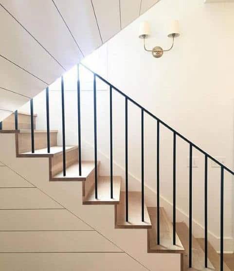 Shiplap Ideas Stair Trim