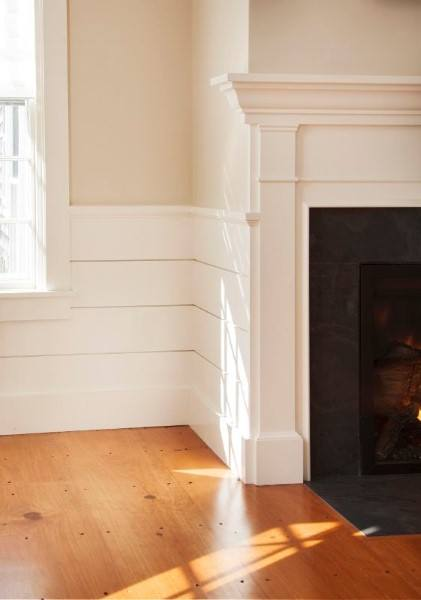 Shiplap Wainscoting Design Ideas Painted White