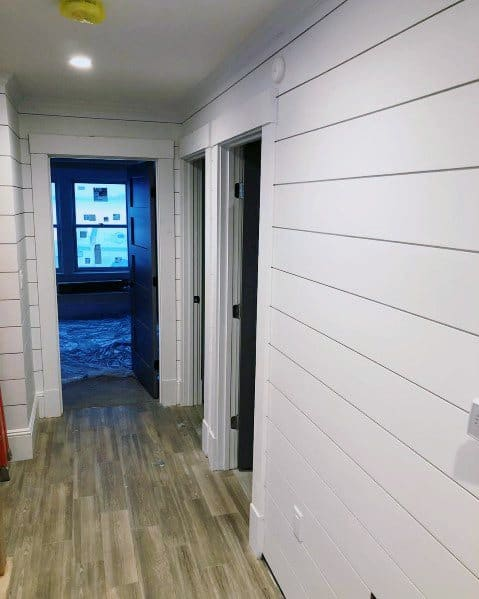 Shiplap Wall Hallway Home Ideas