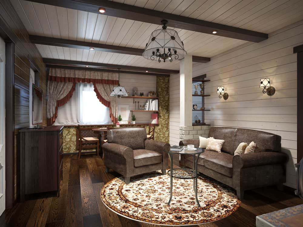 Shiplap Walls Farmhouse Living Room Ideas