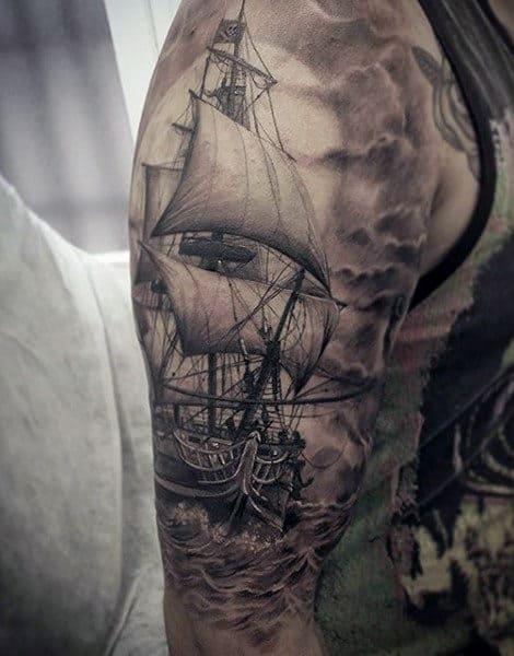 70 Idees De Tatouage De Bateau Pour Les Hommes Sailing Stream Fr