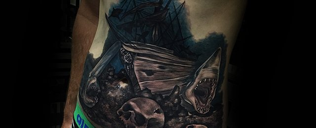 Shipwreck Tattoo Designs For Men