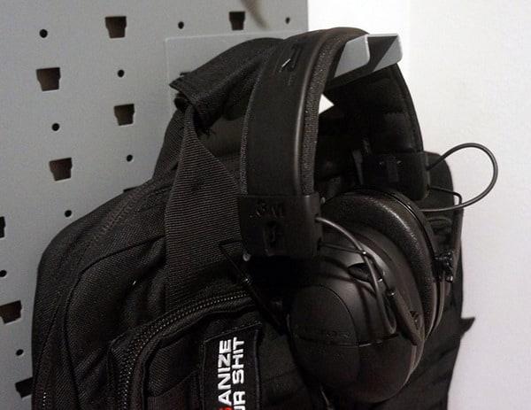 Shooting Ear Protection On Hanger In Gun Safe