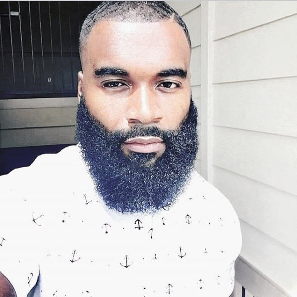 Short Buzzed Hair With Full Beard Style Ideas For Black Males