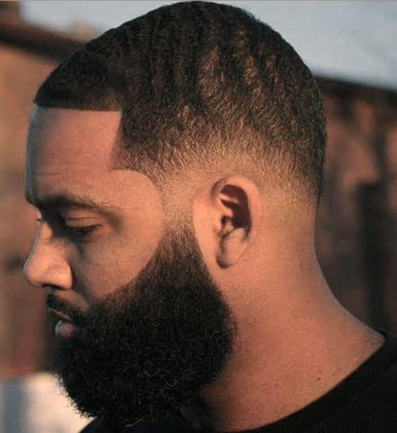 Short Hair With Full Beard Styles For Black Men