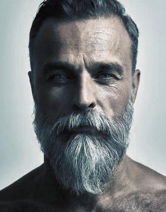 Short Hair With Grey Beard Male Style Ideas