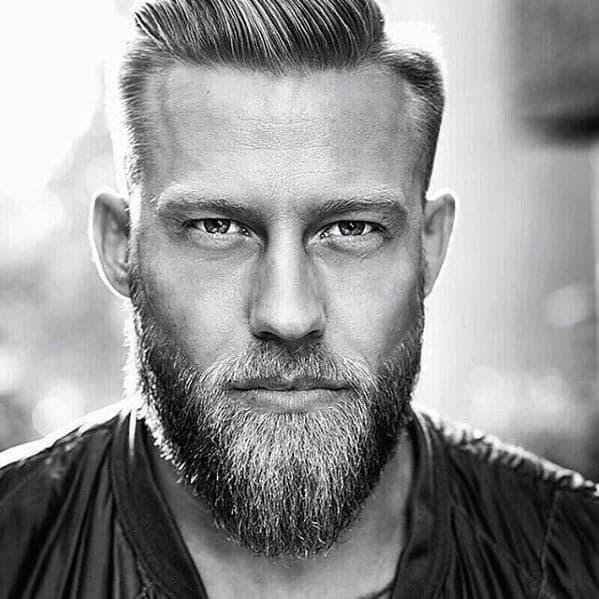 Short Hair With Medium Length Beard Male Style Ideas