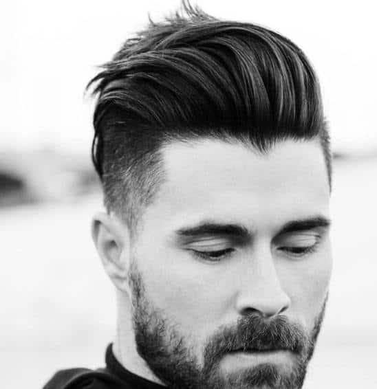 short back long front hairstyles : 50 Shaved Sides Hairstyles For Men - Throwback Haircuts