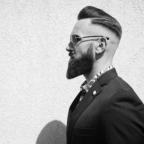 Short Hard Part Trendy Hairstyles Men