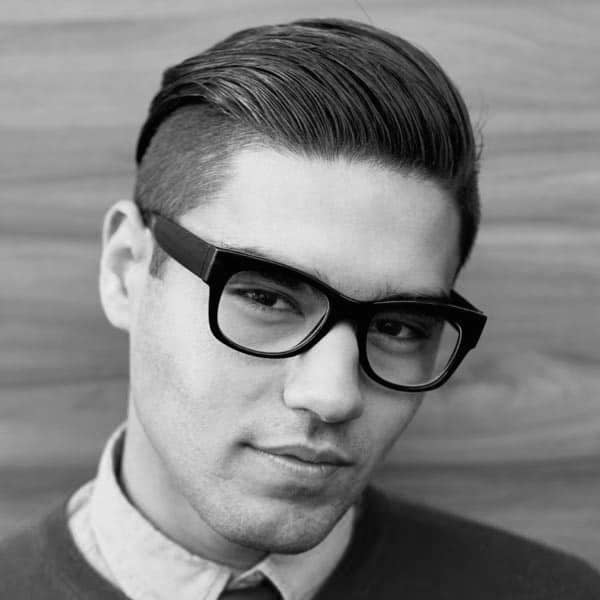 Short Hipster Haircuts For Men Slicked Back Undercut