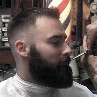 Short Length Hair And Beard Styles On Gentleman