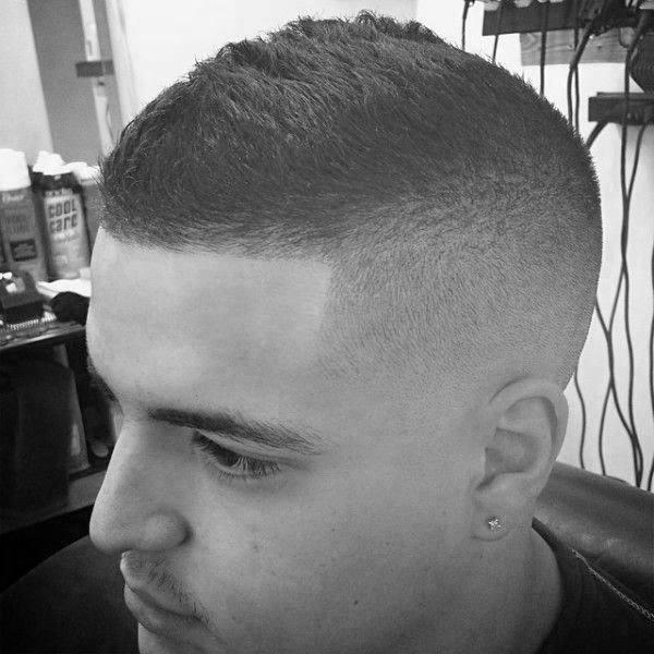 Short Length Mens Skin Fade Faux Hawk Haircuts