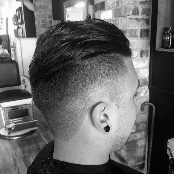Short Length Mens Undercut Slicked Back Hair Ideas