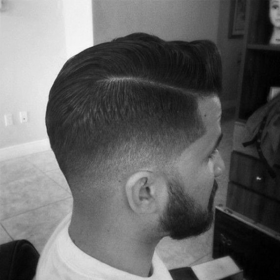 Short Mens Low Fade Hair With Hard Part