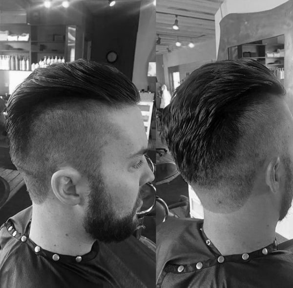 Short On Sides Long On Top Mens Undercut Slicked Back Hair