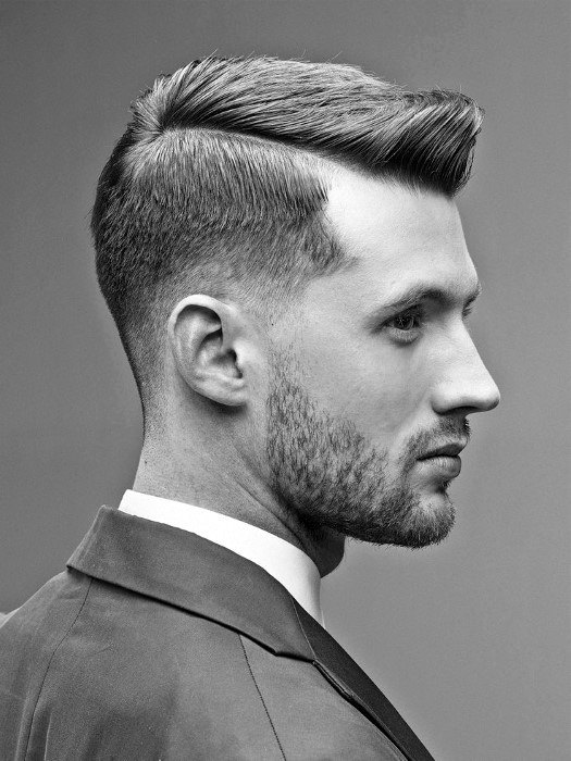 Short Professsional Haircuts For Men With Low Fade On Sides