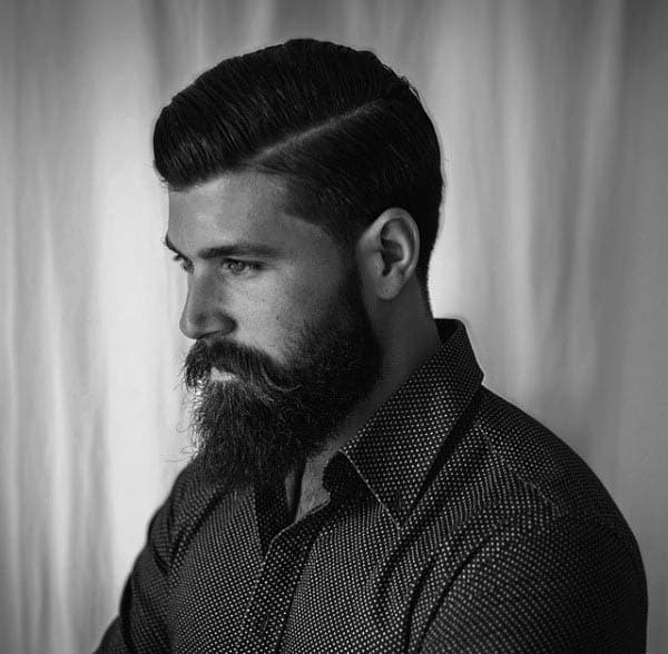 Short To Medium Hard Part Haircuts For Guys