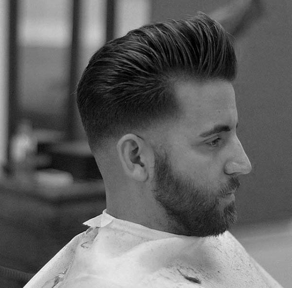 Short To Medium Length Mens Hairstyles For Thick Hair Pompadour