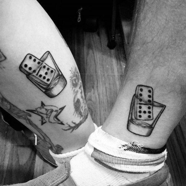 Shot Glass Tattoo Design Ideas For Men